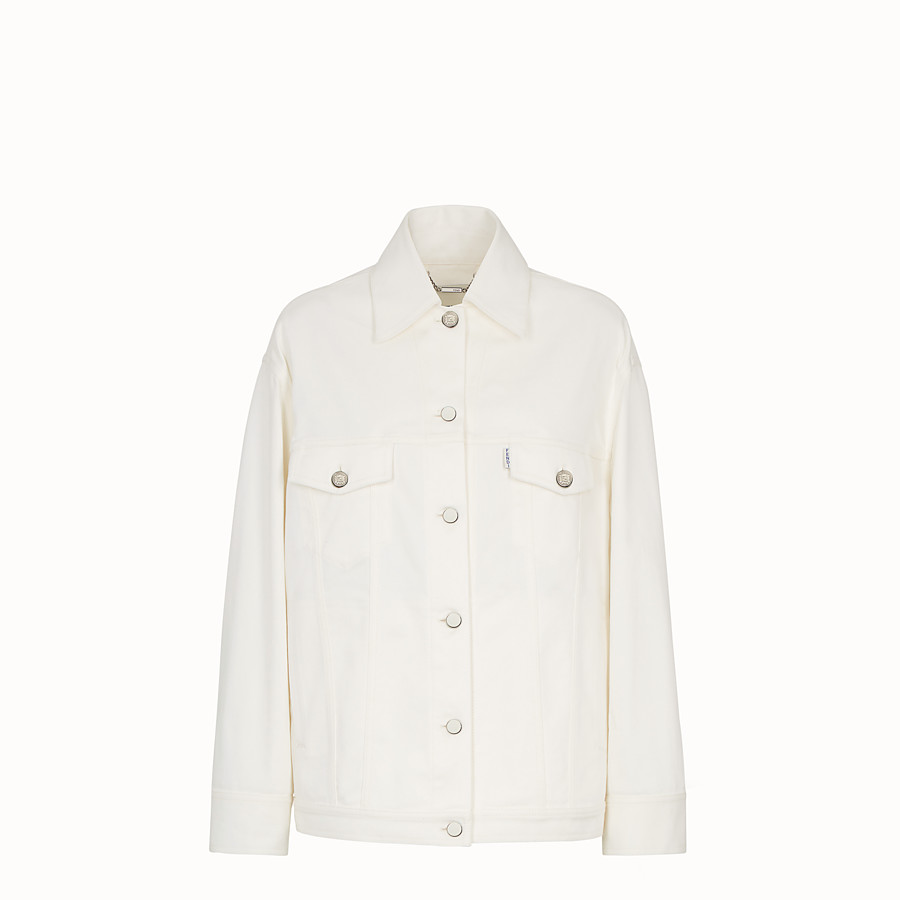 FENDI JACKET - White denim jacket - view 1 detail