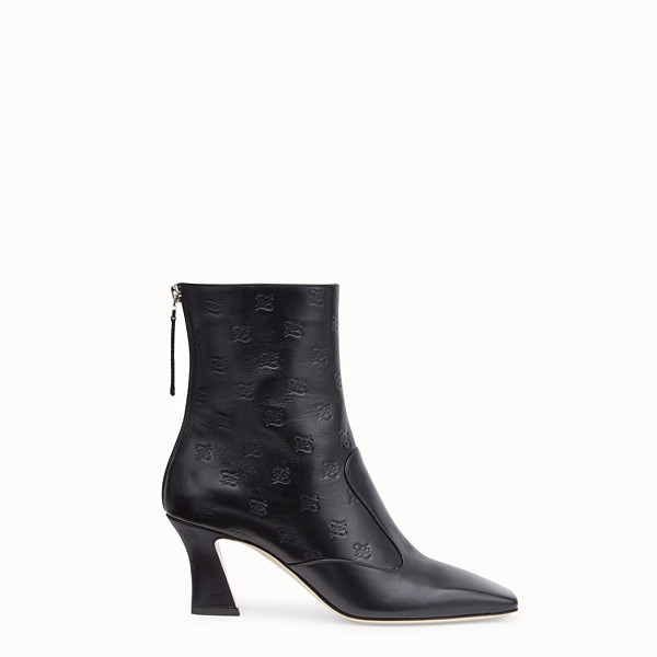 FENDI BOOTS - Black leather booties - view 1 small thumbnail