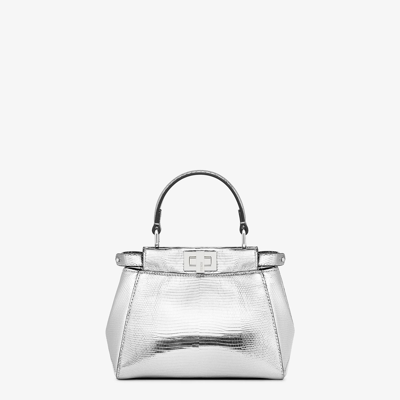 FENDI PEEKABOO ICONIC XS - Mini-bag in silver lizard - view 1 detail
