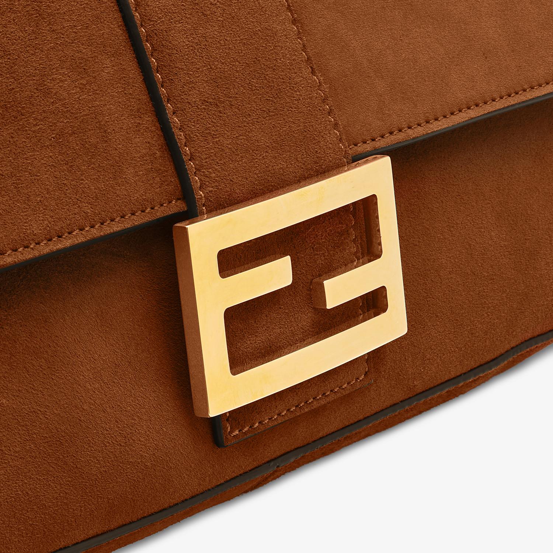 FENDI BAGUETTE LARGE - Brown suede bag - view 6 detail