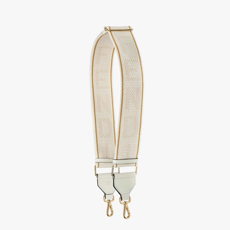 FENDI STRAP YOU - White ribbon shoulder strap - view 1 detail