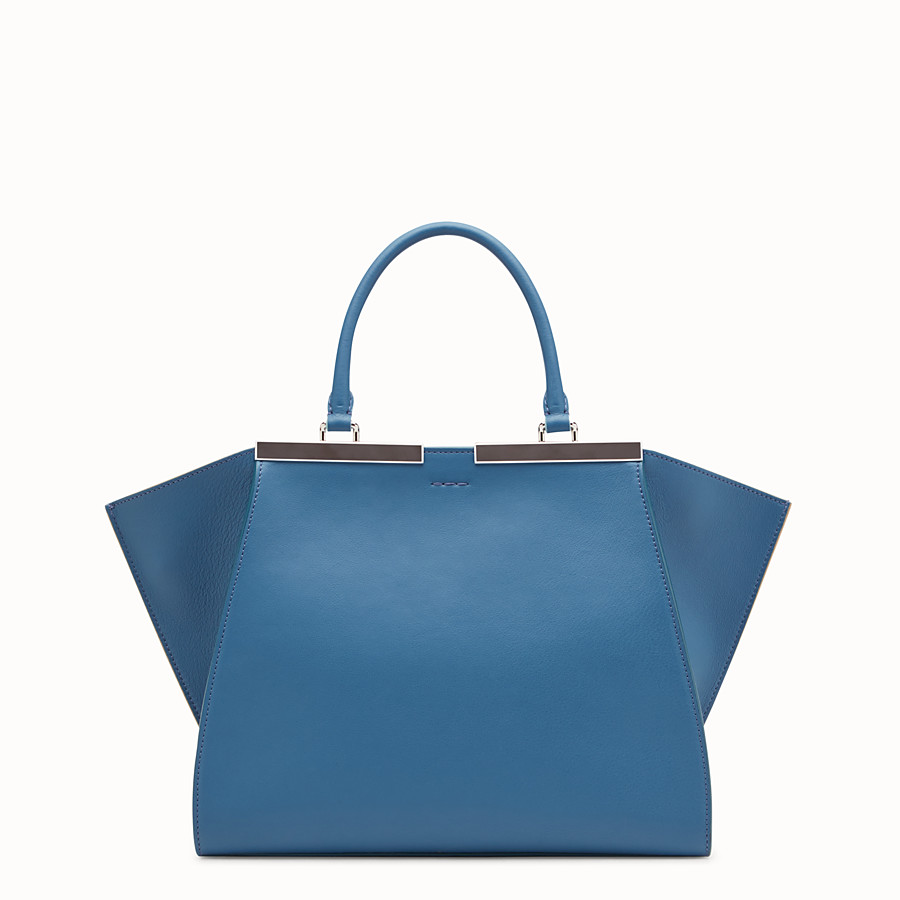 FENDI 3JOURS - Blue leather bag - view 3 detail