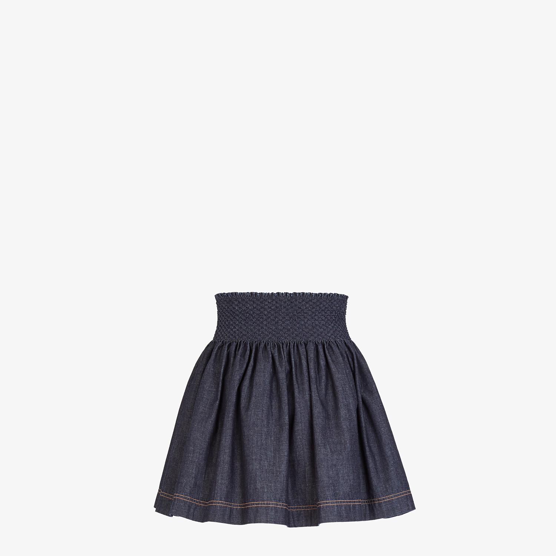 FENDI SKIRT - Blue chambray skirt - view 2 detail