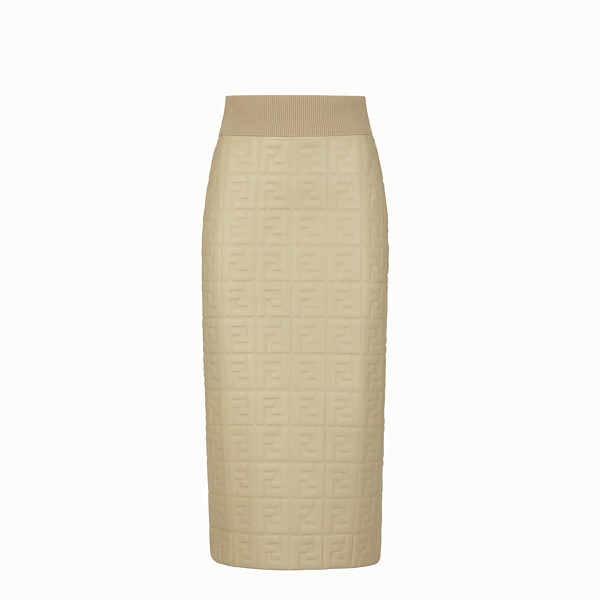 FENDI SKIRT - Green nappa leather skirt - view 1 small thumbnail