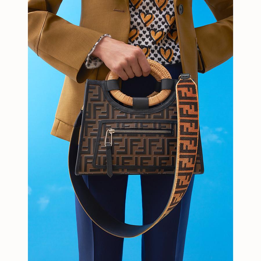FENDI RUNAWAY SHOPPER - Multicolour leather shopper - view 5 detail