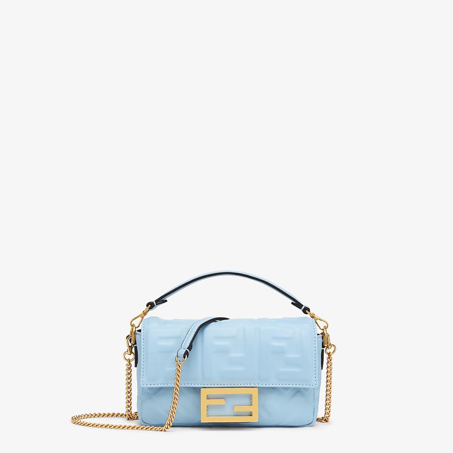 FENDI BAGUETTE - Tasche aus Nappaleder in Hellblau - view 1 detail