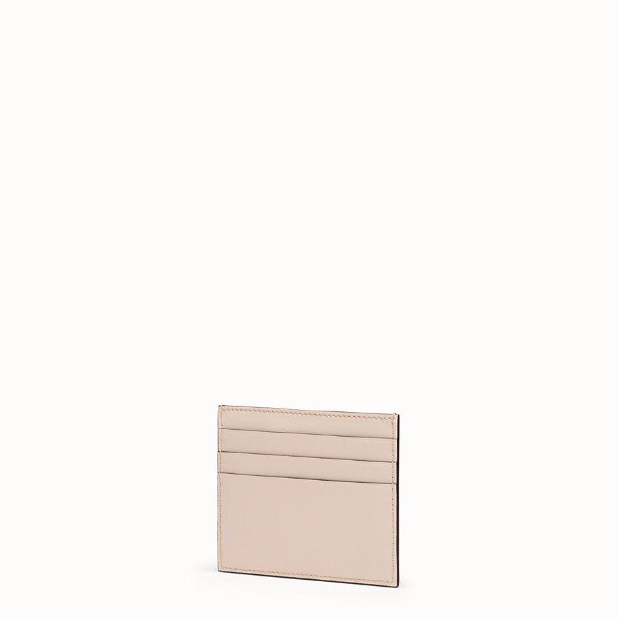 FENDI CARD HOLDER - Pink flat leather card holder - view 2 detail