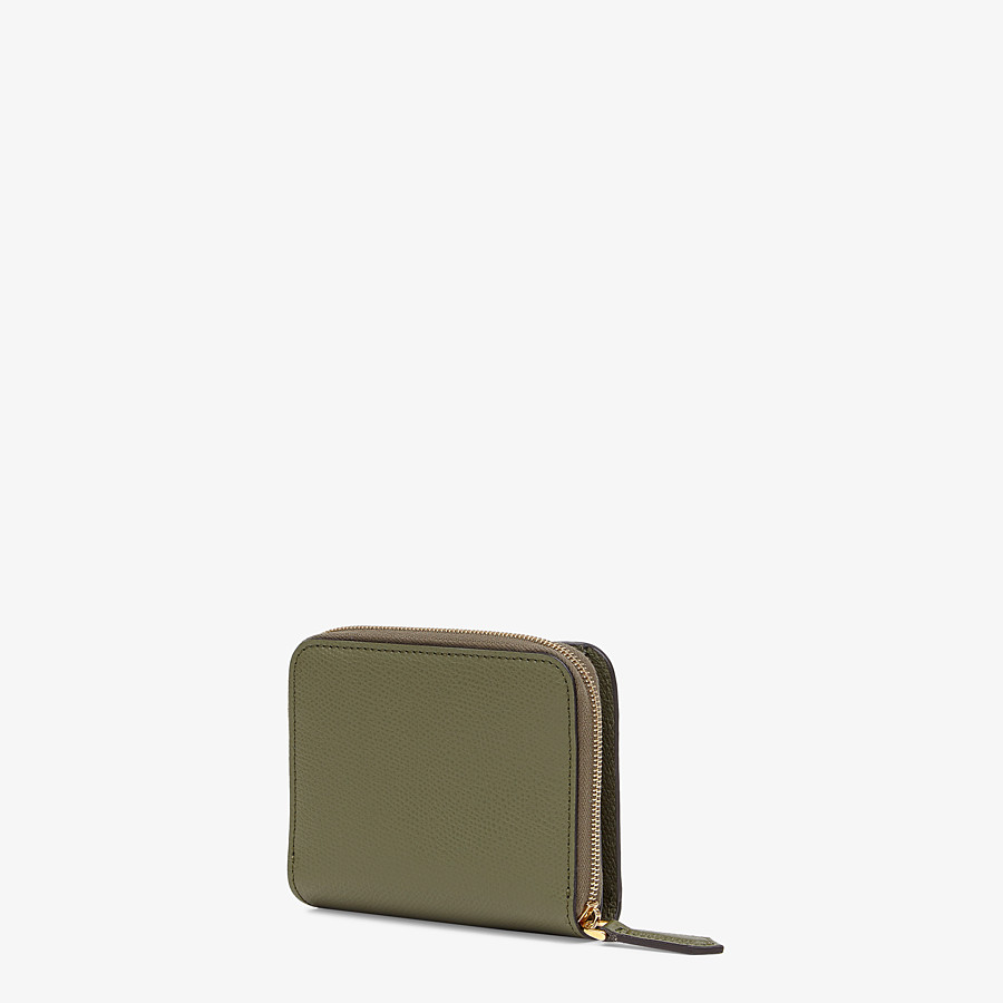 FENDI MEDIUM ZIP-AROUND - Green leather wallet - view 2 detail