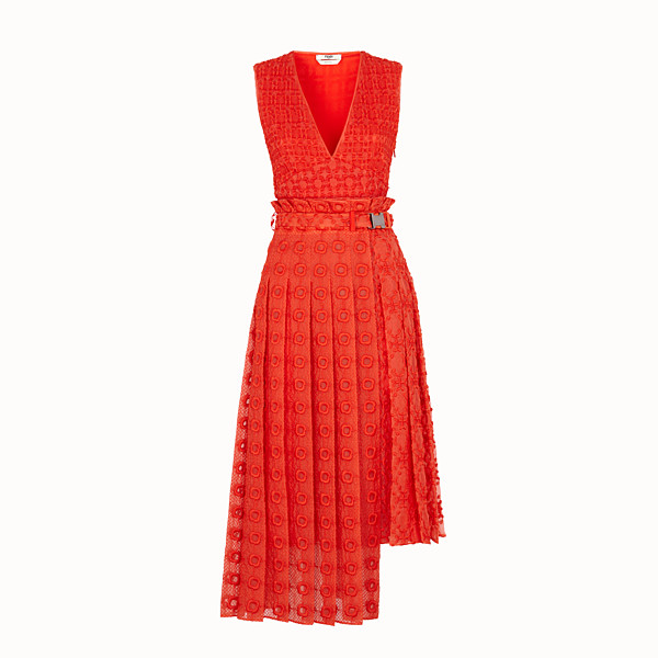 FENDI KLEID - Kleid aus Organza in Orange - view 1 small thumbnail