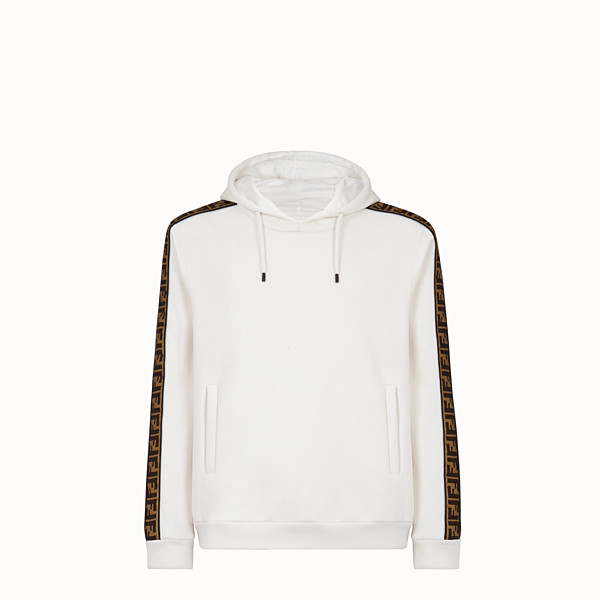 FENDI SWEAT-SHIRT - Sweat-shirt en jersey de coton blanc - view 1 small thumbnail