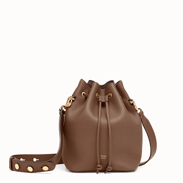 FENDI MON TRESOR - Sac en cuir marron - view 1 small thumbnail