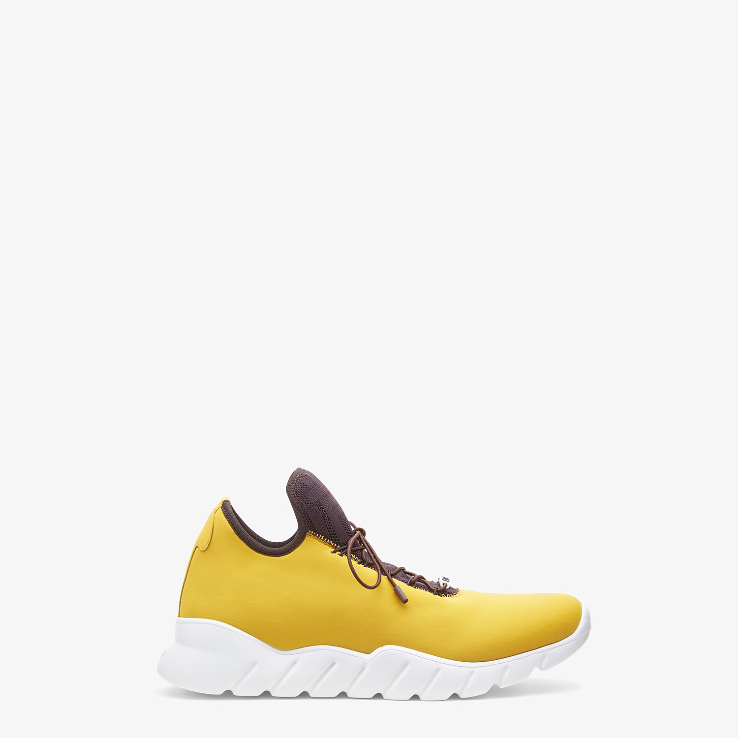 FENDI SNEAKERS - Yellow fabric high-tops - view 1 detail