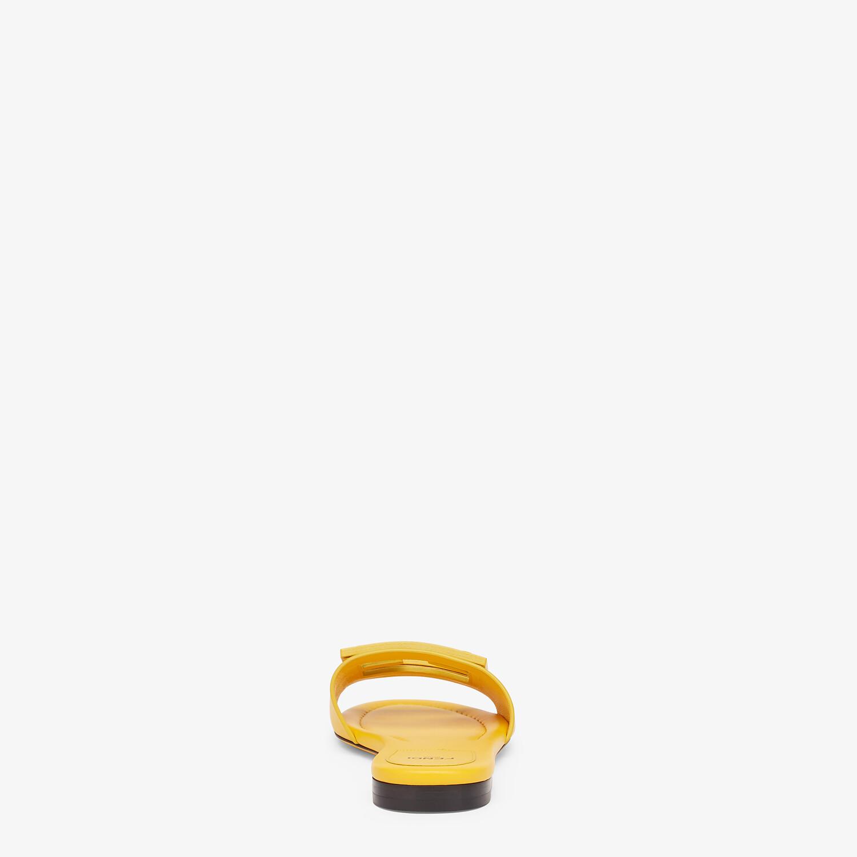 FENDI SIGNATURE - Yellow leather slides - view 3 detail