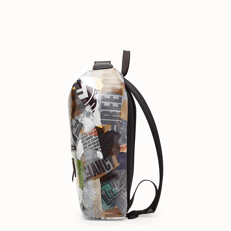 FENDI BACKPACK - Multicolor canvas backpack - view 2 detail