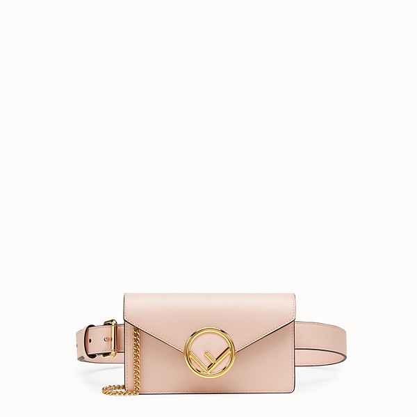 FENDI BELT BAG - Marsupio in pelle rosa - vista 1 thumbnail piccola