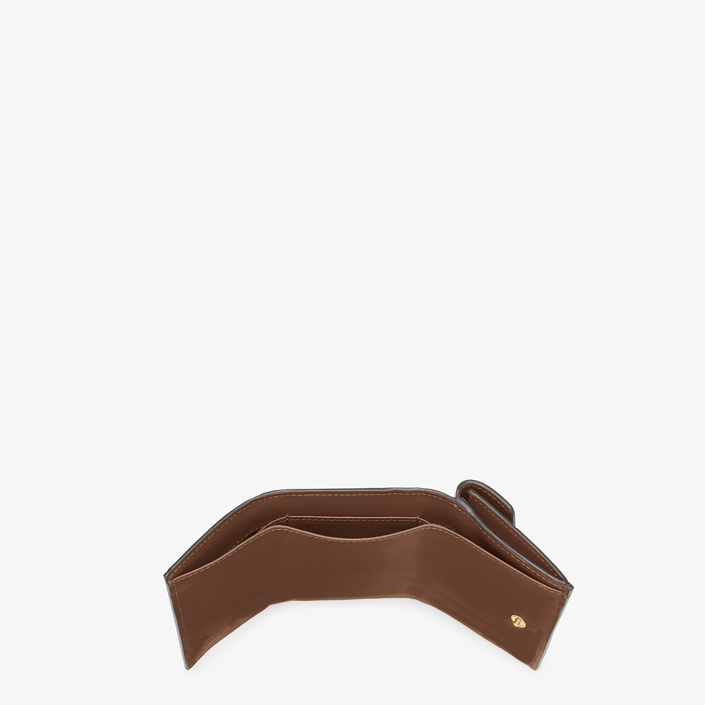 FENDI MICRO TRIFOLD - Brown leather wallet - view 5 detail