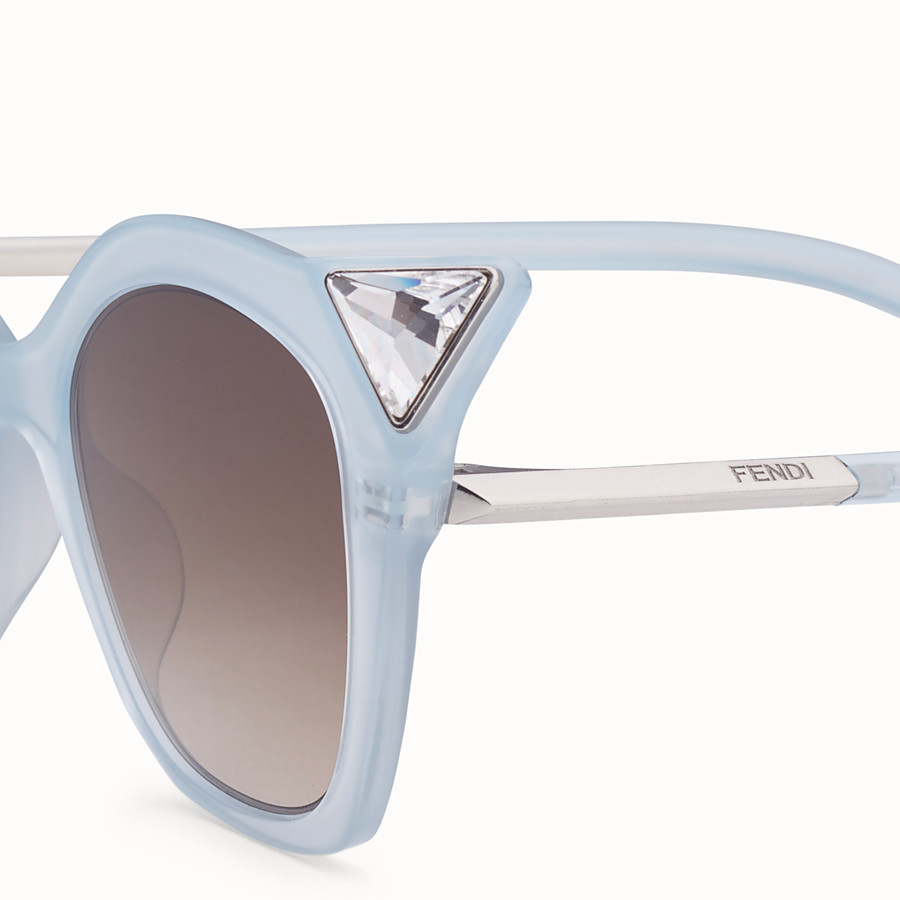 FENDI IRIDIA - Blue and opal blue sunglasses - view 3 detail