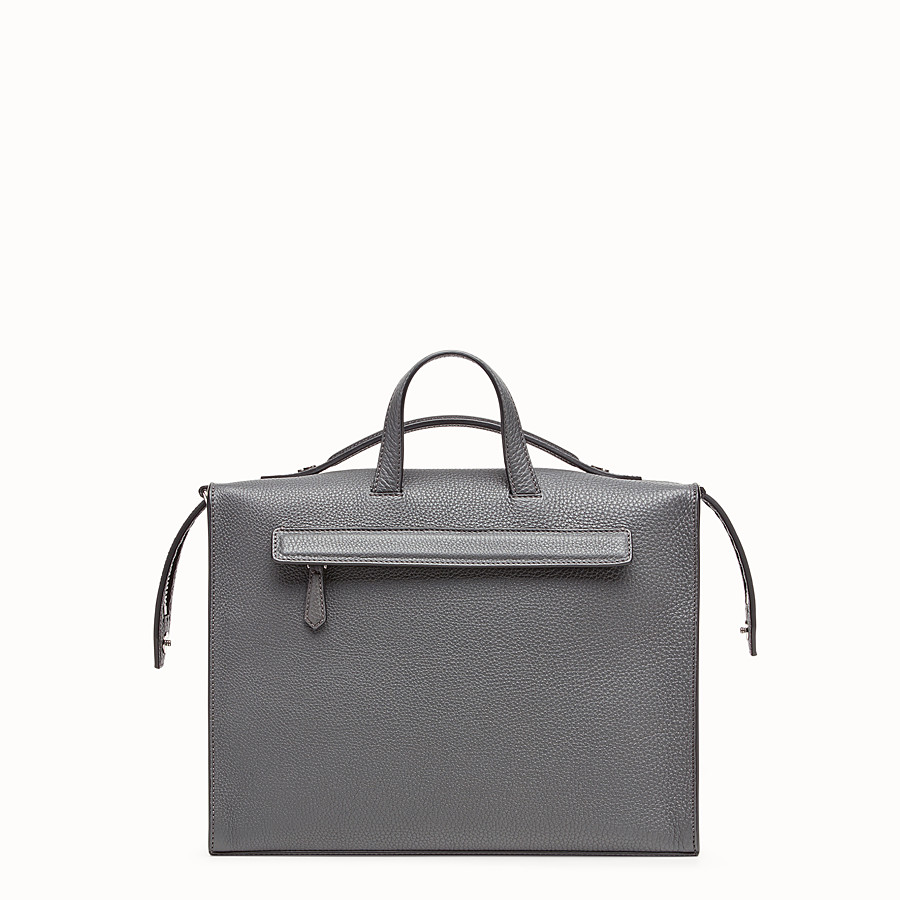FENDI LUI BAG - Grey leather bag - view 3 detail