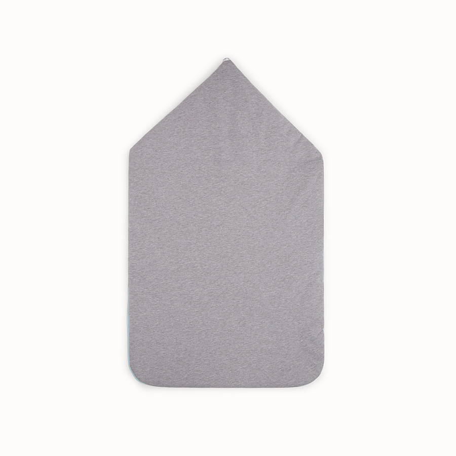 FENDI BABY SLEEPING BAG - Grey and light blue cotton and sweatshirt-fleece baby sleeping bag - view 2 detail