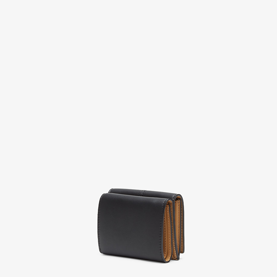 FENDI MICRO TRIFOLD - Black leather wallet - view 2 detail