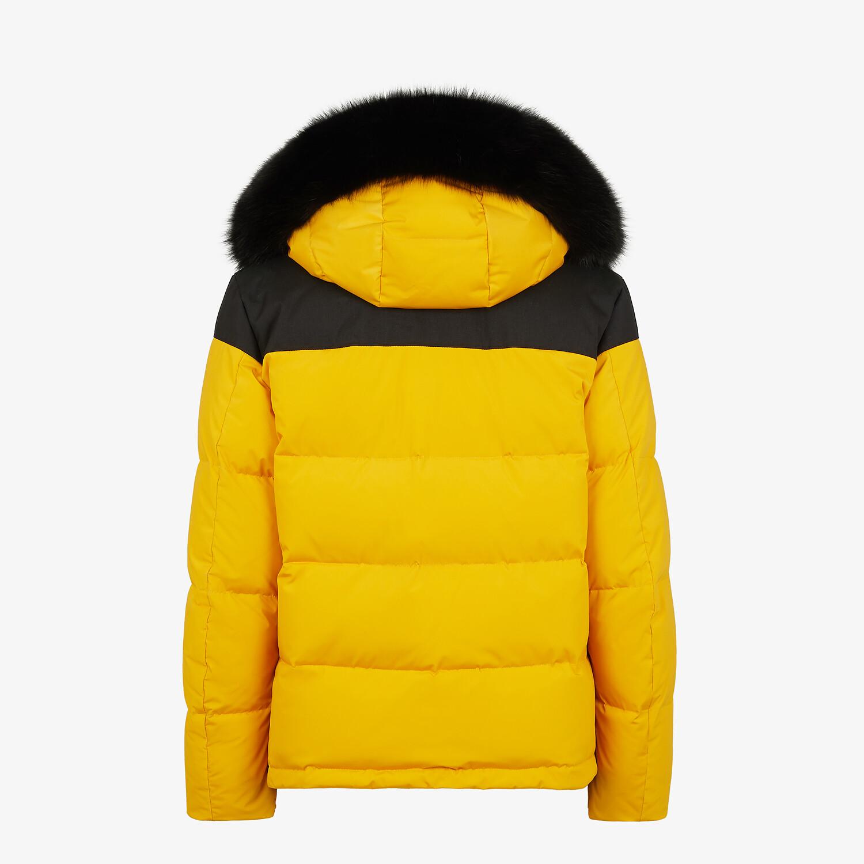 FENDI DOWN JACKET - Yellow tech fabric down jacket - view 2 detail