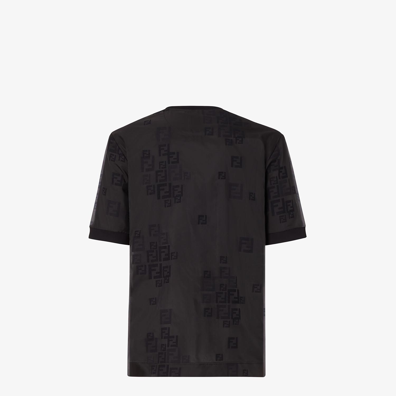 FENDI T-SHIRT - Black organza T-shirt - view 2 detail