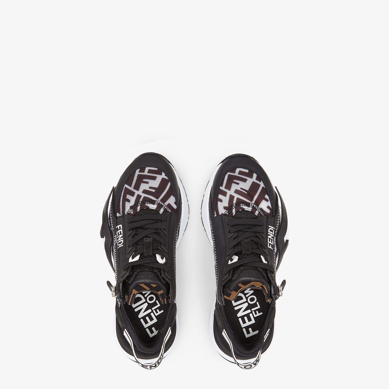 FENDI FENDI FLOW - Black nylon low tops - view 4 detail