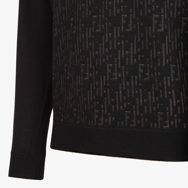 FENDI SWEATER - Black wool sweater - view 3 detail