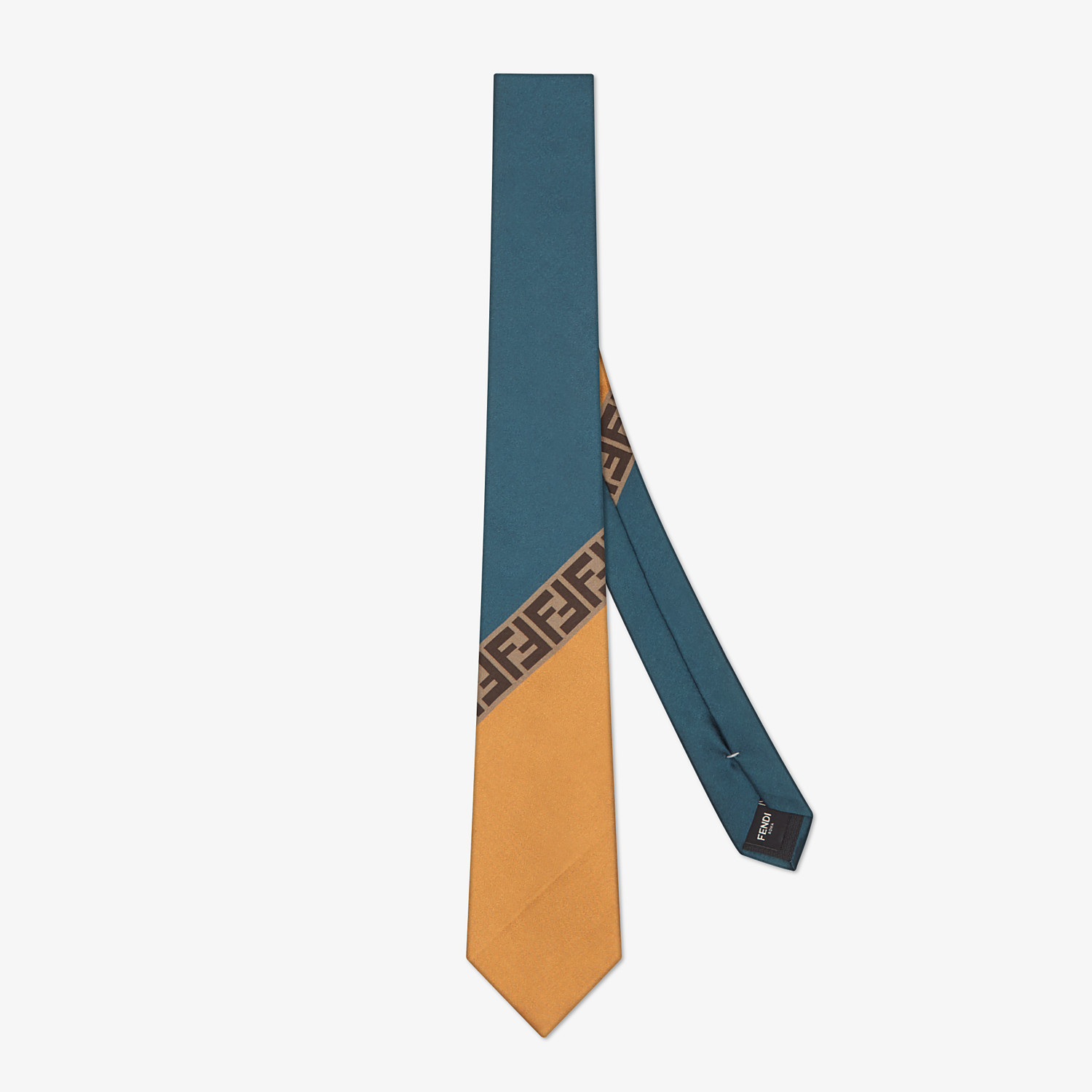 FENDI TIE - Multicolor silk tie - view 1 detail