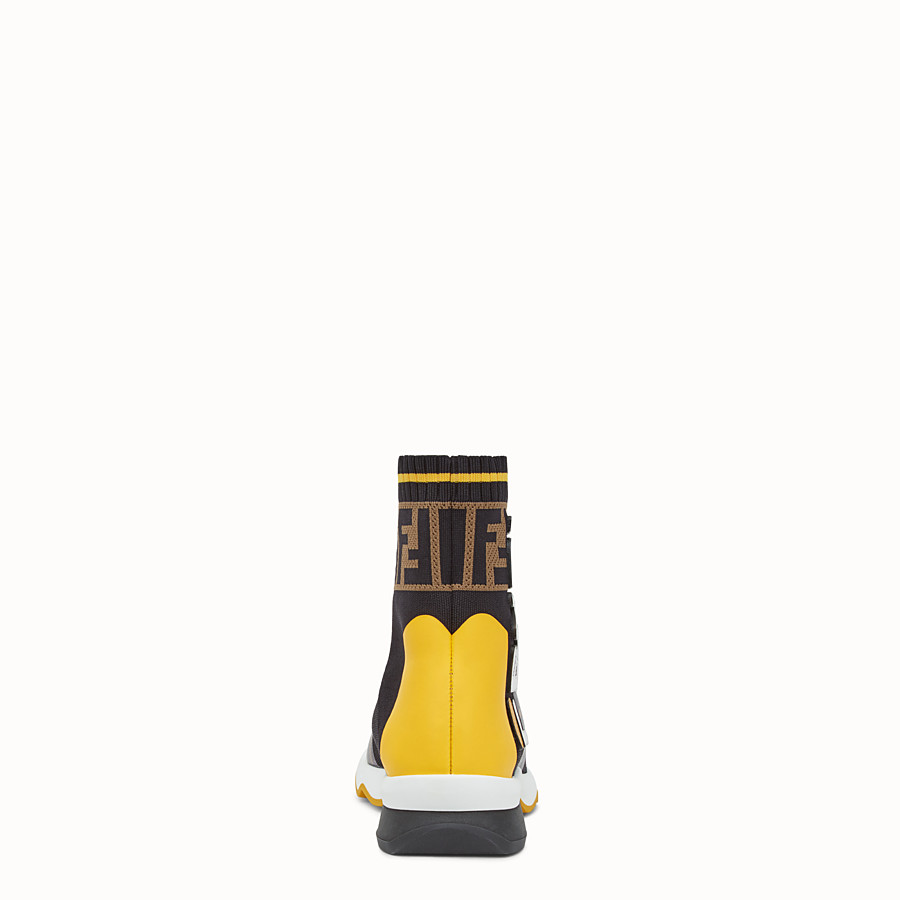 FENDI SNEAKERS - Multicolour fabric sneaker boots - view 3 detail