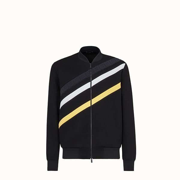 FENDI JACKET - Black cotton jersey jacket - view 1 small thumbnail