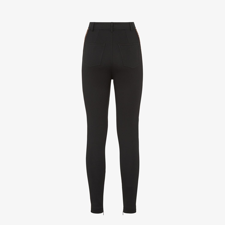 FENDI PANTALONE - Pantalone in jersey nero - vista 2 dettaglio
