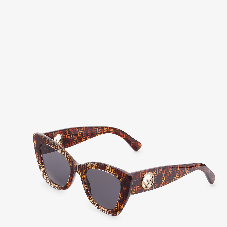 FENDI F IS FENDI - Havana FF sunglasses - view 2 detail