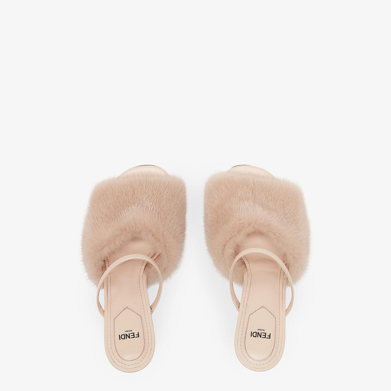 FENDI FENDI FIRST - Pink mink high-heeled sandals - view 4 detail