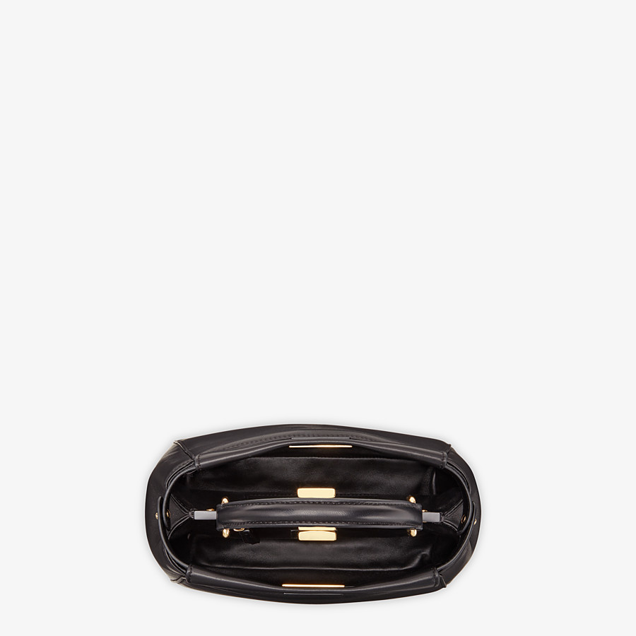 FENDI PEEKABOO ICONIC MINI - Black leather bag - view 4 detail