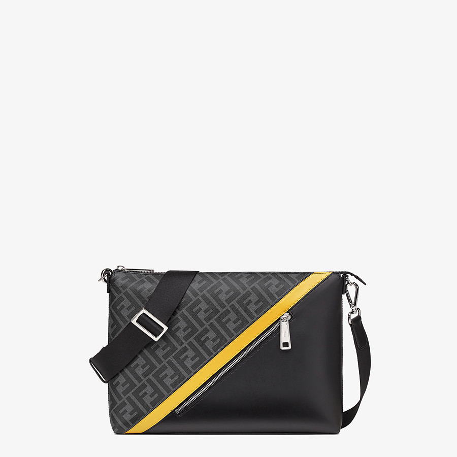 FENDI MESSENGER - Gray fabric bag - view 1 detail