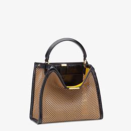 FENDI PEEKABOO X-LITE MEDIUM - Beige leather bag - view 4 thumbnail