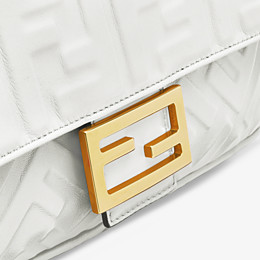 FENDI BAGUETTE - White leather bag - view 6 thumbnail