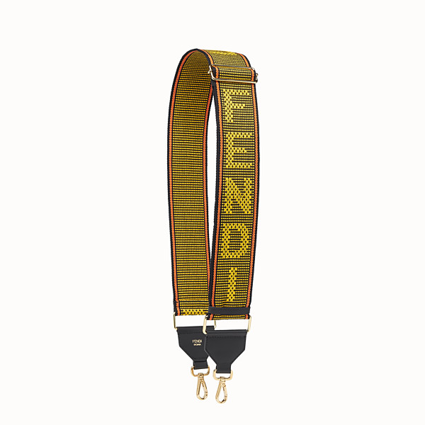 FENDI STRAP YOU - Yellow ribbon shoulder strap - view 1 small thumbnail