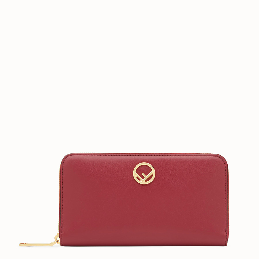 FENDI ZIP-AROUND - Red leather wallet - view 1 detail