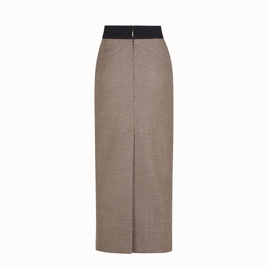 FENDI SKIRT - Grisaille wool skirt - view 2 detail