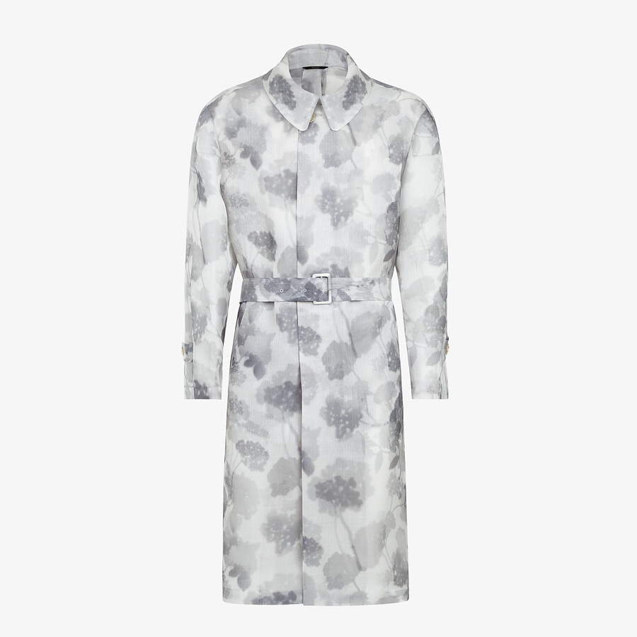 FENDI TRENCH COAT - Natural organza trench coat - view 1 detail