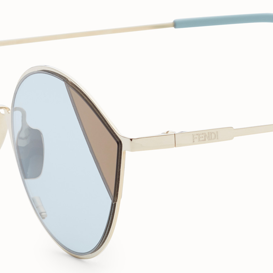 FENDI CUT-EYE - Gold-colour sunglasses - view 3 detail