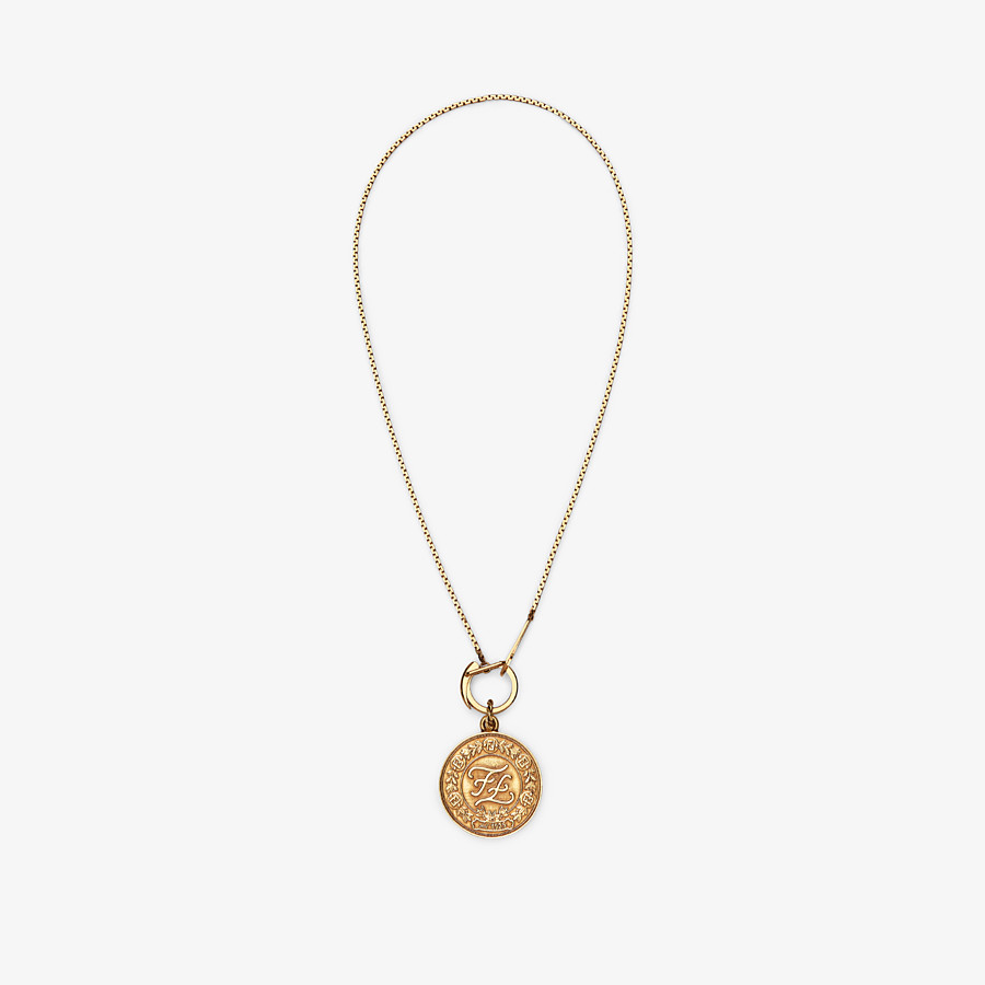 FENDI KARLIGRAPHY NECKLACE - Gold-colour necklace - view 1 detail