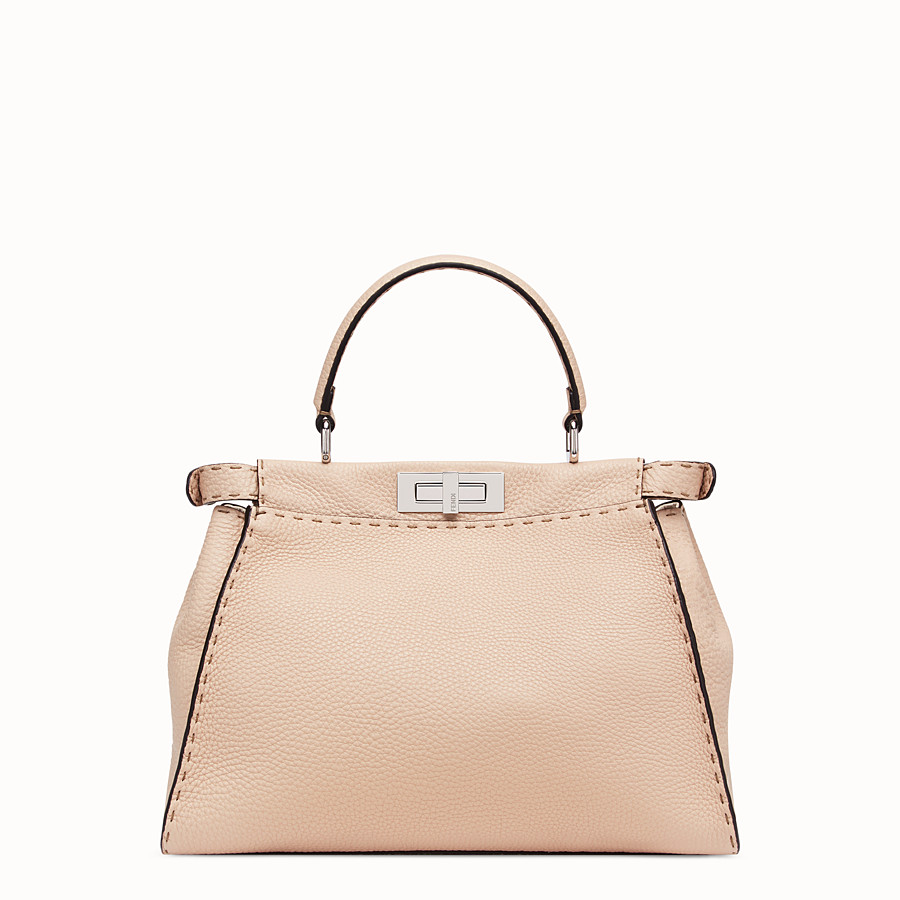FENDI PEEKABOO ICONIC MEDIUM - Beige leather bag - view 4 detail