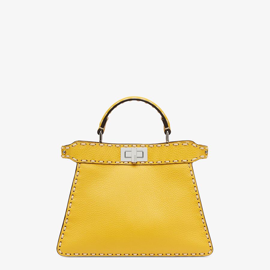 FENDI PEEKABOO ISEEU SMALL - Yellow full grain leather bag - view 1 detail