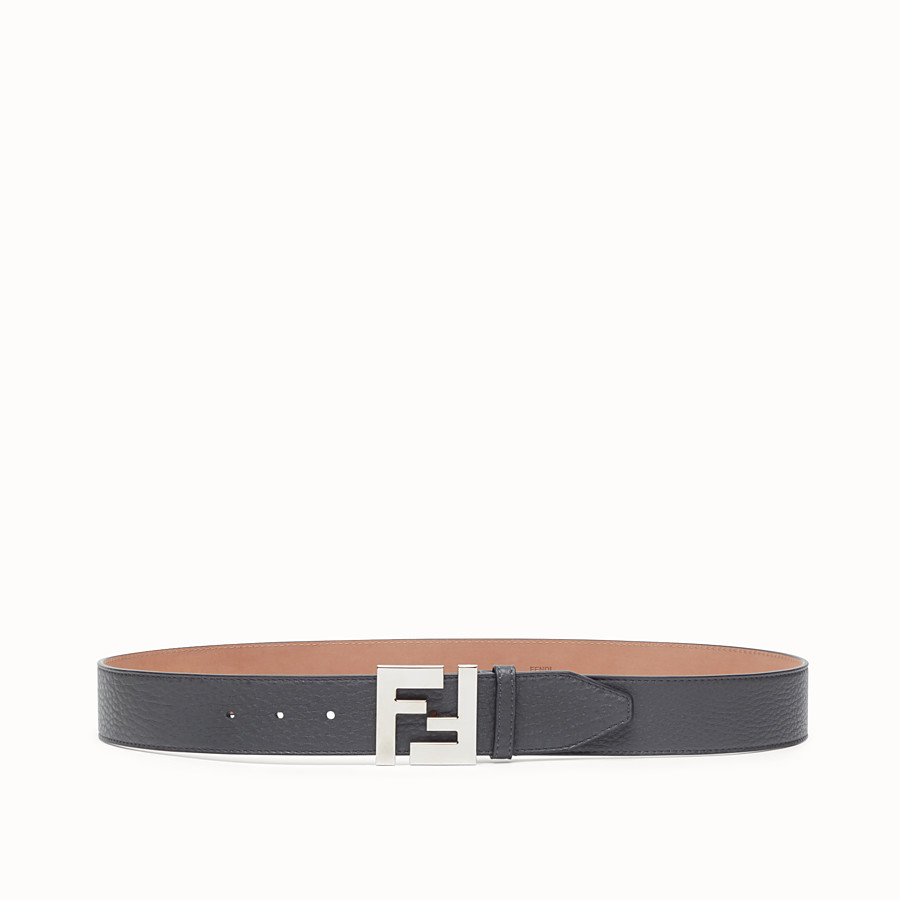 FENDI BELT - Grey leather belt - view 1 detail