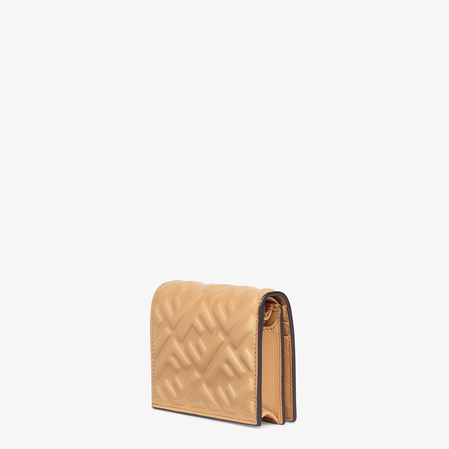 FENDI SMALL WALLET - Beige nappa leather wallet - view 2 detail