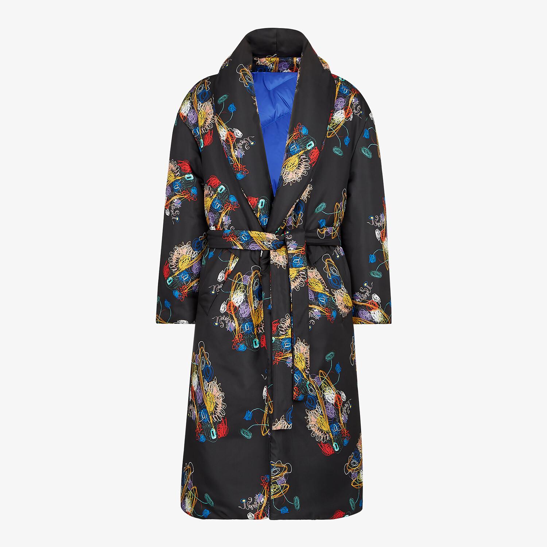 FENDI COAT - Black silk coat - view 1 detail