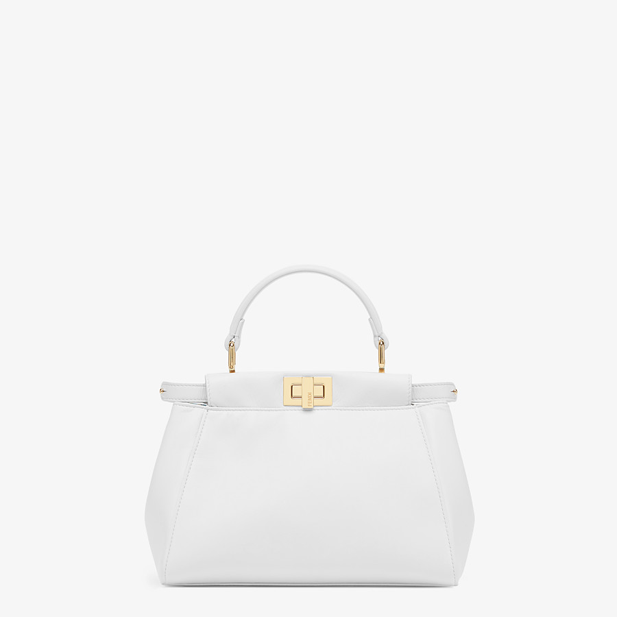 FENDI PEEKABOO ICONIC MINI - White nappa leather bag - view 1 detail
